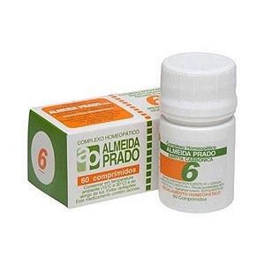 Complexo Homeopático Nº 6 ALMEIDA PRADO (Amigdalite) 60 Comprimidos