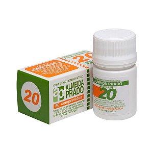 Complexo Homeopático Nº 20 ALMEIDA PRADO (hemorróidas) 60 Comprimidos