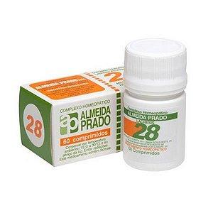 Complexo Homeopático Nº 28 ALMEIDA PRADO (Menopausa) 60 Comprimidos