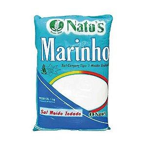 Sal Marinho Moído Iodado NATU'S 1Kg