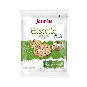 Biscoito Integral JASMINE Sabor Alho e Orégano 80g