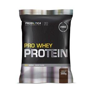 Pro Whey Protein PROBIÓTICA Sabor Chocolate Sachê 500g