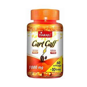 Cart Caff (Óleo de Cártamo e Cafeína) TIARAJU 1000mg 60 + 10 Cápsulas