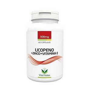 Licopeno + Zinco + Vit. E  500mg  60 Cápsulas Vital Natus