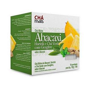 Chá de Abacaxi Hortelã e Chá Verde CHÁ MAIS com Gengibre 10 Sachês