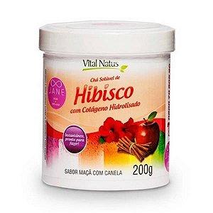 Hibisco com Colágeno Solúvel VITAL NATUS Sabor Maçã com Canela 200g