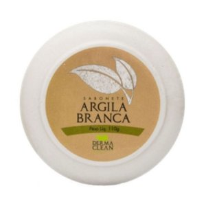 SABONETE ARGILA BRANCA 100G DERMA CLEAN