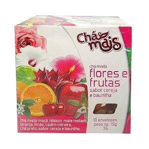 Chá de Flores e Frutas com Cereja e Baunilha CHÁ MAIS 10 Sachês
