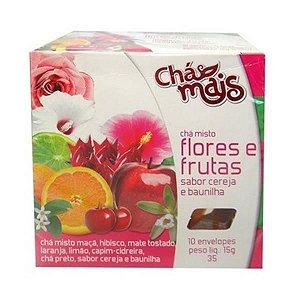 Chá de Flores e Frutas com Cereja e Framboesa CHÁ MAIS 10 Sachês