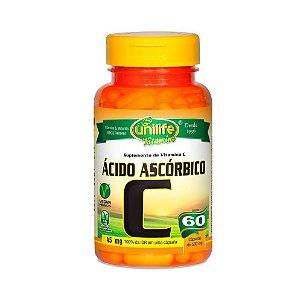 Vitamina C (Ácido Ascórbico) UNILIFE 400mg 60 Cápsulas Vegetais