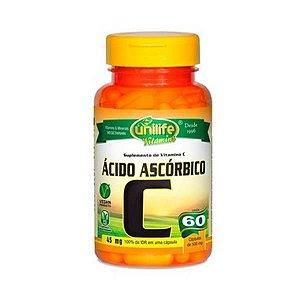 Vitamina C (Ácido Ascórbico)  400mg 60 Cáps UNILIFE