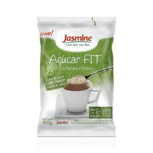 Açucar Fit (Demerara + Stévia) JASMINE 400g
