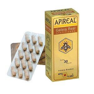 ApiReal Geleia Real Liofilizada com Vitaminas APIS FLORA 30 Cápsulas