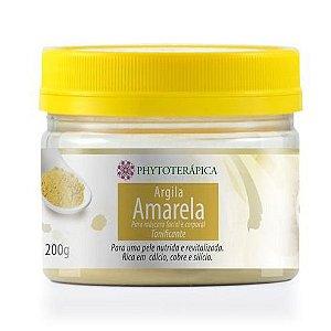 Argila Amarela Máscara Facial e Corporal PHYTOTERÁPICA Tonificante 200g