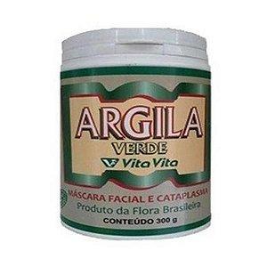 Argila Verde 300g (Máscara Facial e Cataplasma) - VITA VITA