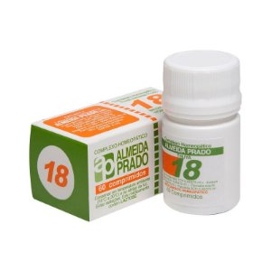Complexo Homeopático Nº 18 ALMEIDA PRADO (Prostatite) 60 Comprimidos