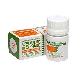 Complexo Homeopático Nº 3 ALMEIDA PRADO (Sinusite) 60 Comprimidos