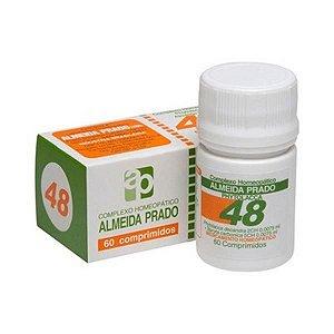 Complexo Homeopático Nº 48 ALMEIDA PRADO (Dor de Garganta) 60 Comprimidos