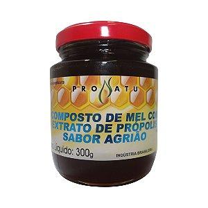 COMPOSTO DE MEL COM PROPOLIS SABOR AGRIÃO 300G PRONATU