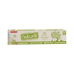 Creme Dental NATURAL Glicerina Vegetal com Extratos de Uva, Melissa e Camomila Sem Flúor 80g