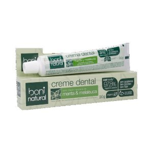 Creme Dental BONI NATURAL Menta e Melaleuca Sem Flúor 90g