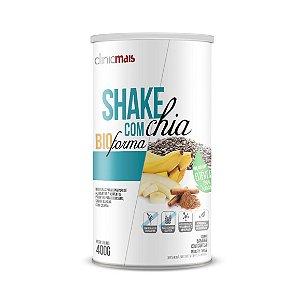 Shake com Chia CHÁ MAIS (ClinicMais) Sem Corantes com Estévia Sabor Banana com Canela 400g