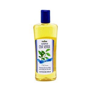 Shampoo Chá Verde Sem Sal e Sem Corantes VITA PLANKTA Uso Diário 300ml