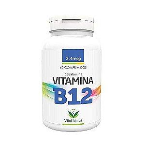 Vitamina B12 Cobalamina VITAL NATUS 9mcg  60 Comprimidos