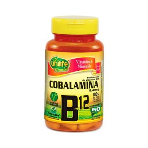 Vitamina B12 (Cianocobalamina) UNILIFE 9,9mcg 60 Cápsulas Vegetais
