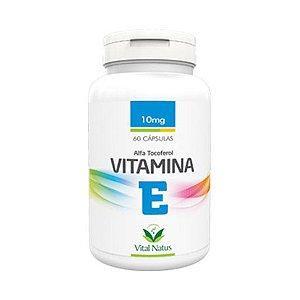 Vitamina E Alfa Tocoferol VITAL NATUS 10mg 60 Cápsulas