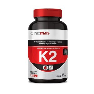 Vitamina K2 CHÁ MAIS (ClinicMais) 500mg 30 Cápsulas