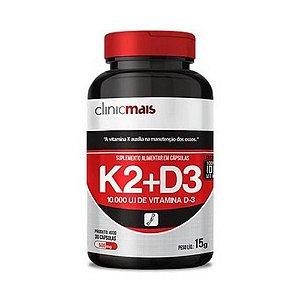 K2+D3 CHÁ MAIS (ClinicMais) 500mg 30 Cápsulas