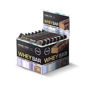 Whey Bar PROBIÓTICA Caixa com 24 Unidades Sabor Cookies & Cream 40g