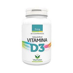 Vitamina D3 5mcg 60 Comprimidos VITAL NATUS