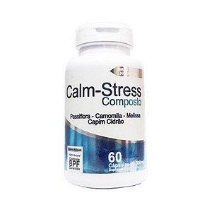 Calm-Stress Composto (Passiflora + Camomila + Melissa + Capim Cidreira) 4 ELEMENTOS 500mg 60 Cápsulas