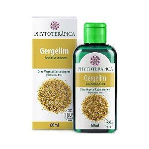 Óleo Vegetal de Gergelim (Sesamum indicum) Extra Virgem (Prensado a frio) PHYTOTERÁPICA 60ml