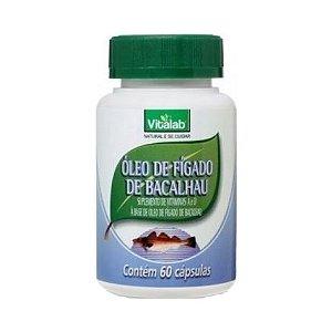 Óleo de Fígado de Bacalhau (Vit. A + Vit. D) VITALAB 250mg 60 Cápsulas