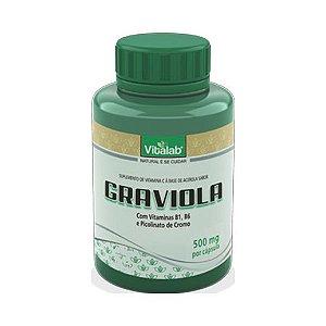 Graviola (B1 + B6 + C + Picolinato de Cromo) VITALAB 500mg 60 Cápsulas
