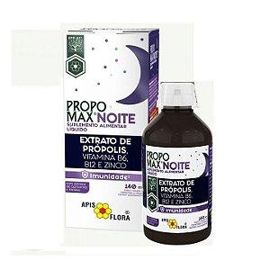 Propomax Noite Extrato de Própolis (B12 + B6 + Zinco + Ext. Melissa e Camomila) Imunidade APIS FLORA 140ml