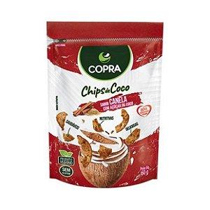 Chips de Coco com Açúcar de Coco COPRA Vegano Sem Glúten Sabor Canela 60g