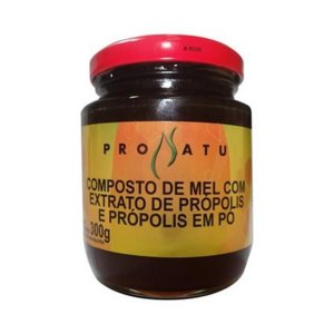 Mel Composto com Extrato de Própolis e Própolis em Pó PRONATU 300g