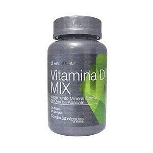 Vitamina D Mix com Óleo de Abacate MEDIERVAS 1000mg 60 Cápsulas
