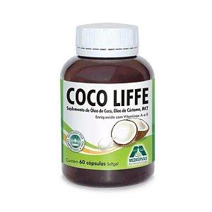 Coco Life Óleo de Coco e Cártamo MEDIERVAS 1000mg 60 Cápsulas