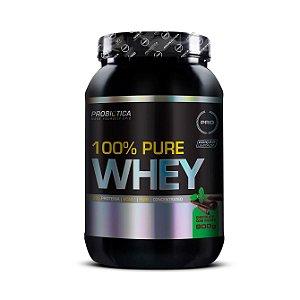 Whey Pure 100% PROBIÓTICA Concentrado Sabor Chocolate com Menta 900g