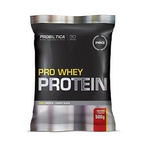 Pro Whey Protein PROBIÓTICA Sabor Morango com Banana Sachê 500g