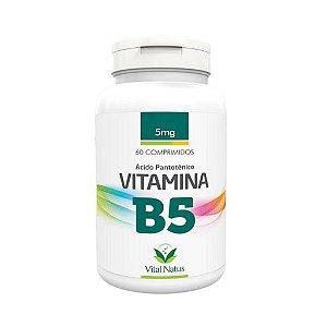 Vitamina B5 Ácido Pantotênico VITAL NATUS 5mg 60 Comprimidos
