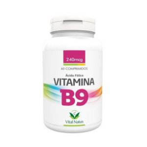 Vitamina B9 Ácido Fólico VITAL NATUS 240mcg 60 Comprimidos