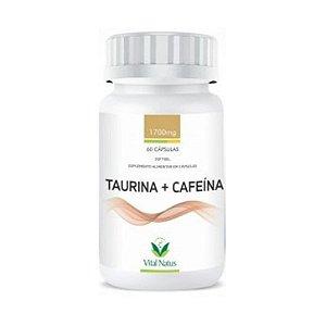 Taurina + Cafeína VITAL NATUS 1700mg  60 Cápsulas