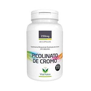 Picolinato de Cromo VITAL NATUS 250mg 60 Cápsulas