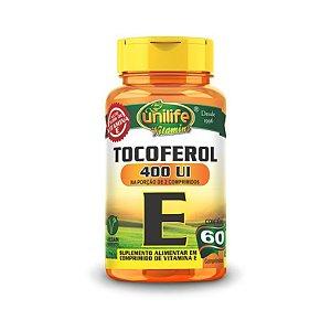 Nao Usar Vitamina E (Tocoferol) UNILIFE 400ui 60 Cápsulas Vegetais